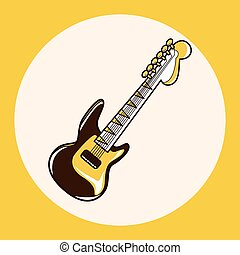 rock style guitar theme elements