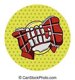rock style logo theme elements