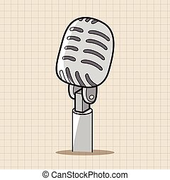 rock style microphone theme elements