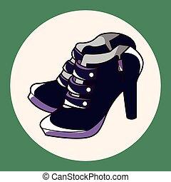 rock style shoes theme elements