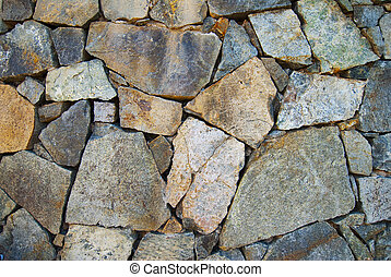 Rock texture background. - Texture of rock wall in sun for ...