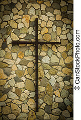 Rock Wall Cross