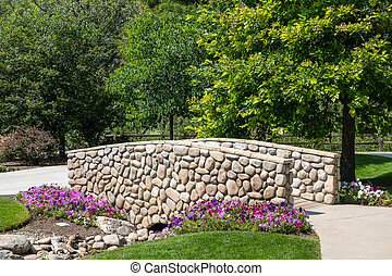 Rock Wall on Garden Bridge