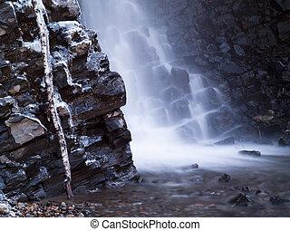 rock water stone cascade