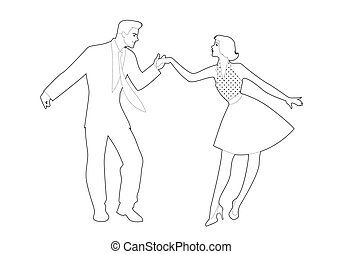 Rockabilly Dance Color-02 - Beautiful girl and handsome man ...
