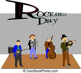 rockabilly day concept