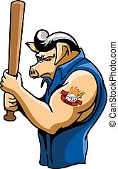 Rockabilly Hogs - Rockabilly hogs with tattoo in his arm.
