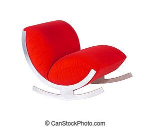rockender , modern, mittler, stuhl, jahrhundert