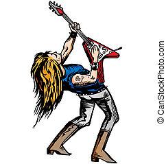 rocker guitarist solo