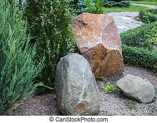 Rockery in the garden.
