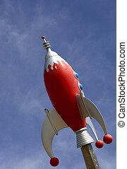 Rocket against sky - Rocket against blue sky