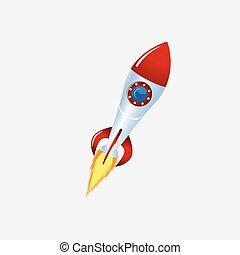 rocket and spacecraft color