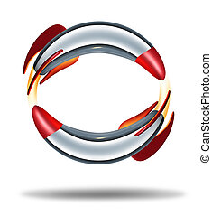 Rocket Circle - Rocket circle concept with two rockets...