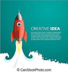 Rocket - creative idea concept