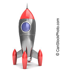 rocket - 3d illustration of cartoon style space rocket