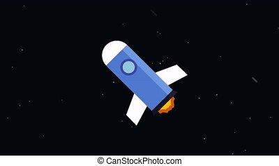 Rocket flies into space