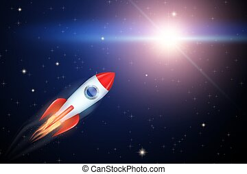 Rocket flies to the star