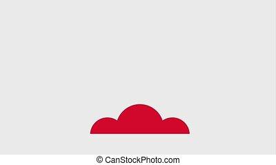 rocket flying icons animation design