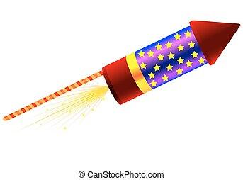 rocket for fireworks - Rocket for fireworks, vector art...