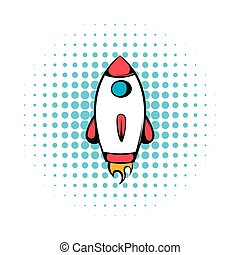 Rocket icon, comics style