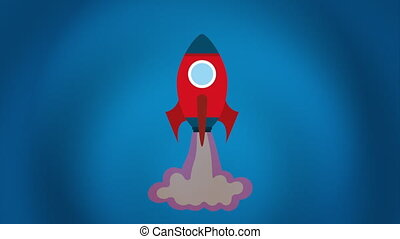 Rocket icon design, Video Animation