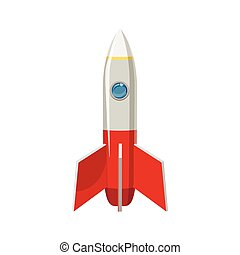 Rocket icon in cartoon style