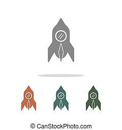 rocket icon isolated on white background