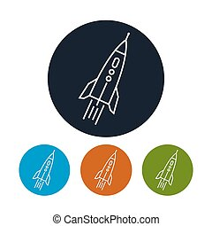 Rocket icon, vector illustration