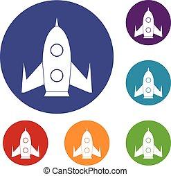 Rocket icons set