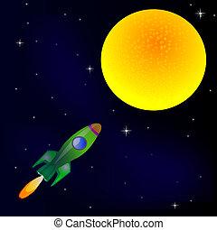 Rocket in cosmos