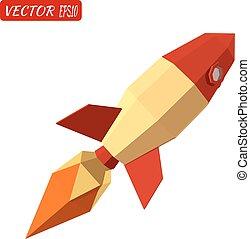 Rocket isolated on white background