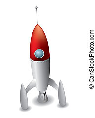 Rocket isolated on white background