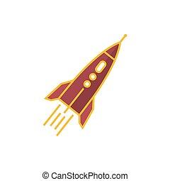Rocket Isolated on White