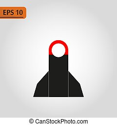 Rocket launch black icon, vector sign on isolated background. Rocket launch concept symbol, illustration