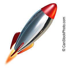 Rocket launch blast off representing a symbol of exploration...