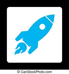 Rocket Launch Icon from Commerce Buttons Over Color Set