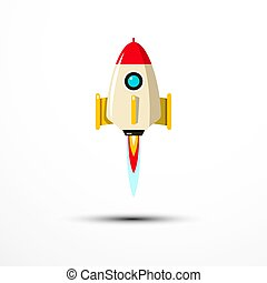 Rocket Launch Icon - Vector Symbol