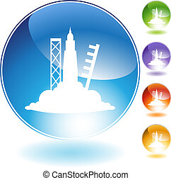 Rocket Launch - Rocket launch icon isolated on a white...