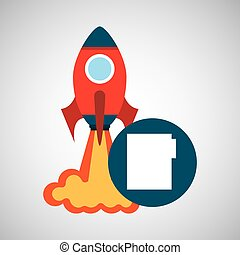 rocket launch start up business file graphic