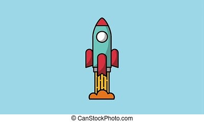 creativity learning design animation - rocket launch start...