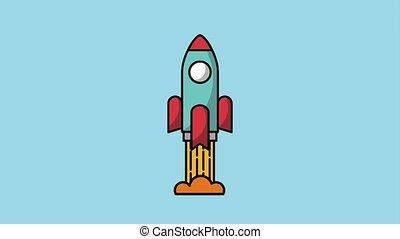 creativity learning design animation - rocket launch start...