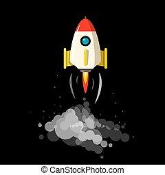 Rocket Launch Vector Symbol