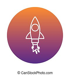 rocket launcher block style icon vector illustration design