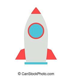 rocket launcher flat style icon vector illustration design