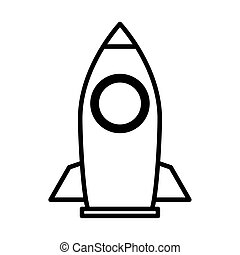 rocket launcher line style icon vector illustration design