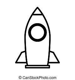 rocket launcher line style icon vector illustration design