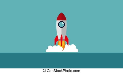 rocket launcher start up animation ,hd video animation
