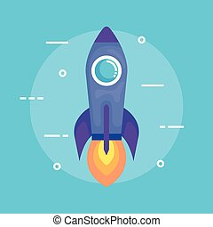 rocket launcher startup icon vector illustration design