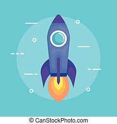 rocket launcher startup icon vector illustration design