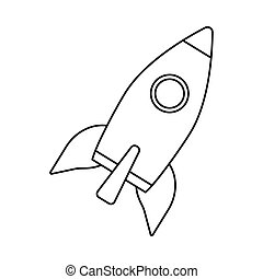 rocket launcher startup isolated icon vector illustration ...